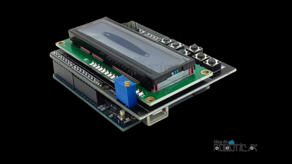 Modo de uso do Shield Display LCD 16x2 com teclado para Arduino
